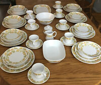 Lot Noritake Progression Sunny Side China Dinnerware 53 Pieces Japan 8 Place Set