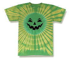 HALLOWEEN TIE DYE Size SMALL Ghoulish Green JACK-O-LANTERN on Hand-dyed T-SHIRT