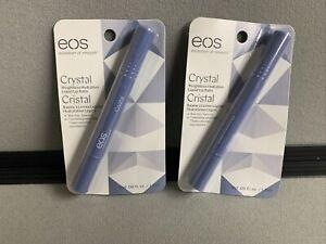 New Sealed 2x EOS Crystal Weightless Hydration Liquid Lip Balm Sealed Rare
