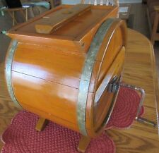 Antique Primitive Wood Barrel Hand Crank Butter Churn 10 x 13 x 15