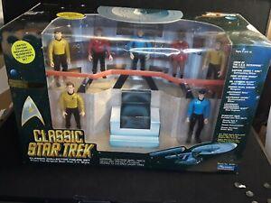 Vintage 1993 Classic Star Trek TOS Bridge Set - 7 collectors figures - Playmates