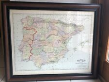 Rand Mcnally & Company 1897 Atlas Map of Spain And Portugal