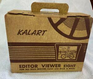 VINTAGE KALART EDITOR VIEWER Eight 8MM Movie Splicer Viewer Model # EV-8