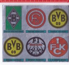 FUSSBALL 80 Panini italy  6 sticker figurine stemmi mint matrice mint no taglio