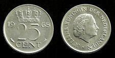 Netherlands - Juliana 25 Cent 1968