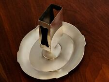 - THEODORE B STARR STERLING SILVER MATCHBOX STAND & ASHTRAY COMBINED NO MONOGRAM