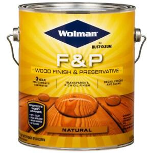 F&P Natural Exterior Wood Stain Finish and Preservative BY RUSTOLEUM~ Gallon