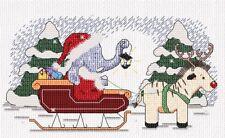 Navidad Trineo Ride-Little Star Stitches Peanut & Friends Kit Punto De Cruz