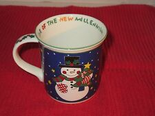 Mikasa Millennium Snowman Mug, Celebrating Christmas 1999, Starts New Century
