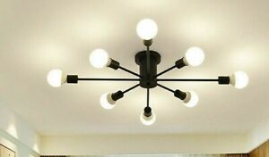 Industrial Ceiling Light Modern Sputnik Chandelier Loft Living Room Pendant Lamp