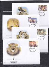 Ghana 2004 - FDC - Dieren / Animals (Leeuwen/Lions) -  WWF/WNF