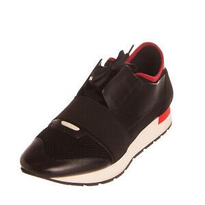 RRP €625 BALENCIAGA Sneakers EU 42 UK 8 US 9 Leather Made in Italy