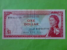 East Caribbean $1 1965 Queen Elizabeth (Used)
