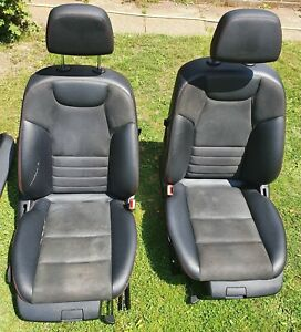 MERCEDES C CLASS W204 C350 AMG set of front red stitching leather/suede seats