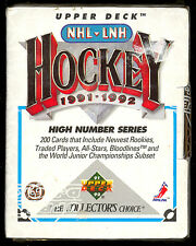1991 92 UD Upper Deck Hockey Factory Sealed High Series 200 cards box set mint