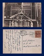 US ILLINOIS CHANUTE  ENGINE TEST BLOCK AIR CORPS TRAINING STATION POSTED 1942