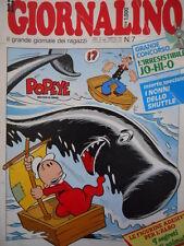 Giornalino 7 1985  I Promessi Sposi di Piffarerio I Puffi Ricky + inse  [C20]