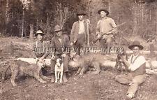 Repro 8x10 Photo Hunters Rifles Cougar Puma, Hounds, Mountain Lions Oregon