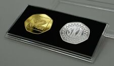 More details for ska music 2 tone silver & 24ct gold commemoratives in 50p coin display case. mod