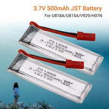 2x 3.7V 500mAh Li-ion Battery w/ JST Plug For U818A/U815A/S032G/V929/H07N Drone