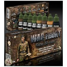 Scale 75 War Front German WW2 Waffen SS Camo (1) Acrylic Paint Set 8 Bottles