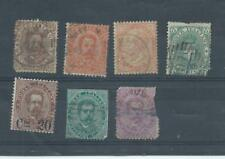 Italy stamps.  3A few early spacefillers. Most have tears, trims etc 1889 (C929)