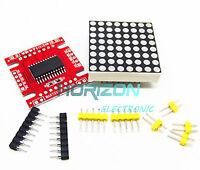 10PCS Red MAX7219 dot matrix module Arduino microcontroller module DIY KIT