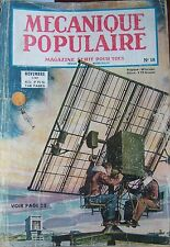 REVUE MECANIQUE POPULAIRE N° 018 HELICOPTERE  PHOTOGRAPHIE LOCOMOTIVE 1947