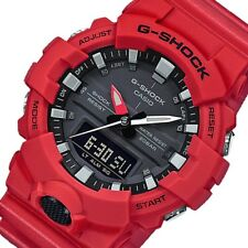 Casio Men's G-Shock GA800-4A Matte Red Polyurethane Japanese Quartz Sport Watch