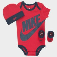 NIKE Baby Boy / Girl 3-piece Outfit Gift Set Red and Blue 6-12 months