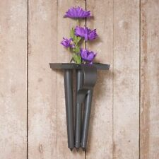 Planters new tin Candle Mold Wall Hanger in Smokey Black