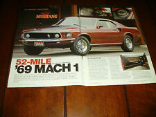 1969 MUSTANG MACH 1 - 52 MILES PERKINS COLLECTION   ***ORIGINAL 2010 ARTICLE***