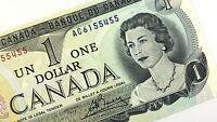 1973 Canada One 1 Dollar AC Prefix Uncirculated Lawson Bouey Banknote Q975