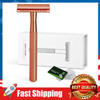 Double Edge Safety Razor for Women Safety Razor with 5 Blades and Delicate Box