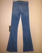 J Brand Low Rise Flare High Waist Jeans in Medium-Light Vintage 25 0 XS SAMPLE