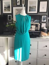 Martin Grant Dress S 6 8 Green Slip 100% Silk French Designer Elegant Beautiful