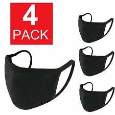 4-Pack Soft Cotton Face Mask Fashionable Reusable Cloth Washable Men Women