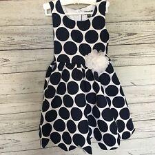 Nordstrom Zunie Polka Dot Scalloped Hem Dress Size 4T