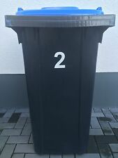 Aufkleber Mülltonne Abfalltonne Mülleimer reflektierend Zahlen Hausnummer 3Stück