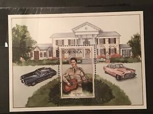 Dominica - $5 Elvis Presley miniature sheet MNH