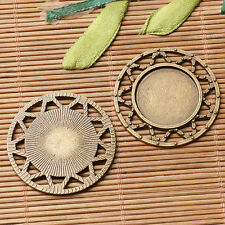 2pcs antiqued bronze color squared shaped cabochon setting in 30x30mm EF3060