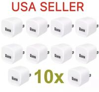 10x White 1A USB Power Adapter AC Home Wall Charger US Plug FOR iPhone 5 5S 6 7