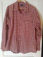 Men's Buckle BKE 67 Red Long Sleeve Plaid Button Up Shirt, Sz:  XXL 2XL