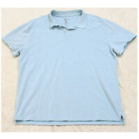 G.H. Bass Blue Cotton Man's Polo Shirt Top Short Sleeve Mens Size XL X-Large Y17
