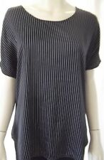 SUSSAN Womens short sleeve Navy & White top Size M