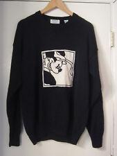 MENS Aureus DISNEY  MICKEY MOUSE BLACK LONG SLEEVE Golf Sweater SIZE L