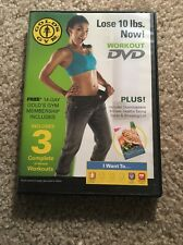 """Golds Gym """"Lose 10 lbs."""" Workout Dvd fitness 3 10-Minute Workouts"""
