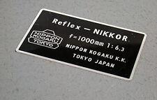 NIKON 6,3/1000 1000 1000mm F6,3 6,3 F Reflex Nippon Kogaku Nikkor top complete