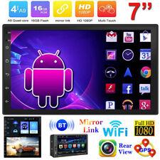 "Android 7"" Car Stereo MP5 MP3 Player 2Din BT GPS Navi WIFI AUX USB FM Radio CAM"