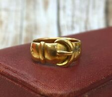 Vintage 18K Gold Buckle Ring Stacking Band